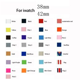 Wholesale Red Wrist Strap - 29 Colors For Apple Watch iWatch Silicone Bracelet Wrist Replacement Band Strap Sport Band 38 42mm