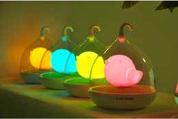 Wholesale Fluorescent Dimmer - LED Energy-saving Creative Birdcage Night Lights Toys Gift Smart Touch Dimmer Fluorescent Table Lamp Portable Mini USB Light Eye Protection