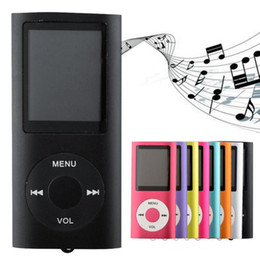 Wholesale E Reader Inch - 1.8 inch Screen 4th mp3 mp4 Player with card slot FM radio Voice Recorder 8 colors USB Cables+Earphones