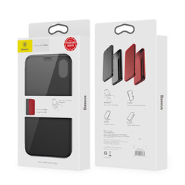 Wholesale Baseus Iphone Case - Baseus Slim Flip Case For iPhone X 360 Full Body Protective TPU Case For iPhone X 10 Full Screen Protector Window Cover Shells SCA370