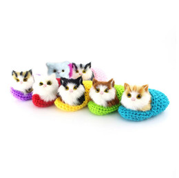 Wholesale Kitten Gifts - Cute Simulation Sounding Shoe Kittens Cats Plush Kids Toys for Children Baby Appease Christmas Birthday Dolls Gifts