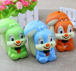 Wholesale Soft Toys Sizes - Squishy Squirrel 11CM Jumbo Kawaii Squirrel Squishy Animal Super Slow Rising Phone Strap Soft Scented Bread Cake Kid Toy Gift New big size