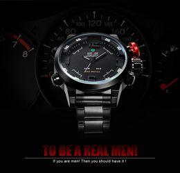 weide militär Rabatt 2015 neue weide watch military männer sportuhren quarz armbanduhren herrenuhr analog led-anzeige edelstahl männer armbanduhr