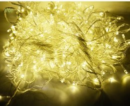 Wholesale Twinkle Light Party Curtains - 50 meters 400 LED String Lighting Fairy Christmas Light Outdoor Wedding lights waterproof Twinkle Decoration EU Plug Tree Lights