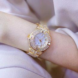 Wholesale Tungsten Gold Watch - Women Watches Diamond Dress Waterproof Female Quartz Watch Ladies Wrist Watches Women Fashion Watch 2017 Brand Casual Rhinestone