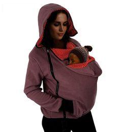 chaqueta de invierno mujeres embarazadas Rebajas Baby Carrier Jacket Kangaroo Hoodie Abrigo de maternidad de invierno Abrigo para mujeres embarazadas Embarazo engrosado Bebé vistiendo abrigo