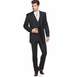 Wholesale Purple Tuxedo Coat - Wholesale-Top Selling Black Men Tuxedo Handsome Groom Tuxedos Coat Pants Images Men Wedding Suits Noivo Smoking (Jacket+Pants+Vest+Tie)