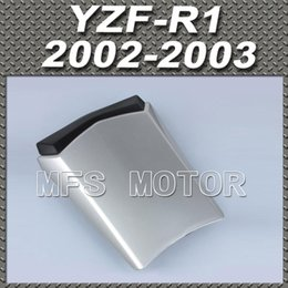 Wholesale R1 Rear Seat Cowl - For YZF-R1 Motorcycle Rear Pillion All Silver Injection ABS Seat Cowl Cover For Yamaha YZF-R1 2002-2003 02-03