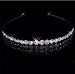 Wholesale Cheap Stone Accessories - 2015 Elegant Hair Accessries Bridal Jewelry Crystal Wedding Crown Cocktail Crown Wedding Party Bridesmaid Headband hair Accessories Cheap