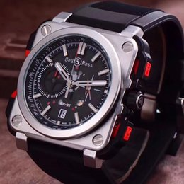 Wholesale Square Watches Silicone - Mens WatchesTop Brand Luxury Chronograph BR Swiss Men Sports Quartz Watch Montre Homme Military Male Clock Men's Dress Wristwatch Reloj Homb