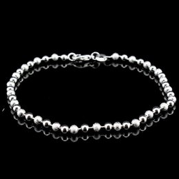 Wholesale Frosted Beads - 925 sterling silver anklets Korean frosted beads anklet simple sterling silver jewelry JL-001