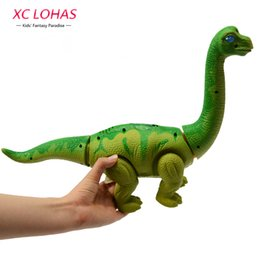 Wholesale Lay Egg - Wholesale-Electronic Lay Eggs Dinosaur Toy Walking Brachiosaurus Electronic Pet Cool Dinosaur Model Toy Boy Birthday Gifts