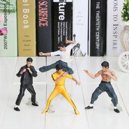 Wholesale Wholesale Kung Fu - 10cm 1set=4PCS PVC Bandai Bruce Lee Figures Kung Fu Master Legend