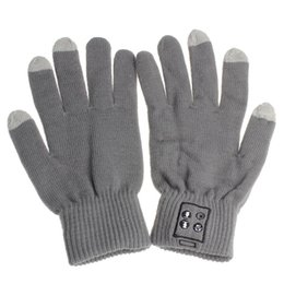Wholesale Worm Gloves - Wholesale-New worm winter touch gloves Screen gloves bluetooth 3.0 Talking Gloves Headset Speaker For Smart Phone GY