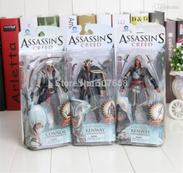 Wholesale Assassins Creed Connor Toy - Assassins Creed 4 Black Flag Connor Haytham Kenway Edward Kenway PVC Action Figure Toys new arrival