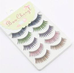 Wholesale Eyelash Colour - 5 pairs is 1 set .multi colour eyelashes,colorful eyelashes,colours eyelashes colorized eyelashes