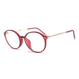 Wholesale Reading Glasses Round - Clear Glasses Women Unisex Gold Round Metal Frame Computer Eyeglasses Frame Optical Reading Eyewear Men Oculos S7743DF