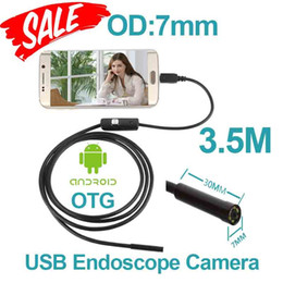 Wholesale Usb Snake - 7mm len Android USB Endoscope Camera Flexible Snake USB inspection Pipe Camera IP67 Waterproof micro USB Android endoscope Camera