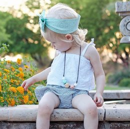 Wholesale Tank Top Flowers - Little Baby Girls Flower Tank tops 2018 Babies Cotton Hallow Out Vest Bebe Summer Fashion Tops Kids Clothing