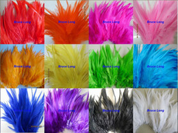 Wholesale Pheasant Hat - Mix Colors Rooster Feathers Pheasant Feather DIY Necklace Earring Hair Hat Mask Decor Feather Trim Boa 1000pcs 4-6Inches 10-15CM