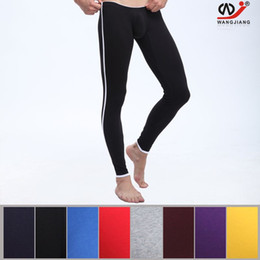 Wholesale Thin Cotton Underwear For Men - Male Long Johns Thin Elastic For Man's Underpants Legging Tight Men's Sexy Cotton Thermal Underwear Pants W1009-CKU