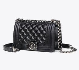 Wholesale designer lambskin handbags - 2 SIZE 2018 new hot BLACK LAMBSKIN LE women SHOULDER BAGS PURSE high quality Women messenger Bag Famous Designer Brand Women handbag