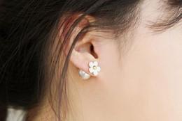 Wholesale Earing Beads - Ear Stud Earrings Charm Pearl Beads Jewelry Pearl Earings Elegant Cute Flower Pearl Ear Studs Earing Ear Accessories Jewellry Free Ship DHL