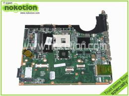 Wholesale Intel Pm55 - Wholesale-580976-001 Laptop motherboard for HP Pavilion dv6-2100 DA0UP6MB6F0 REV F Intel PM55 nvidia graphics Mainboard full test