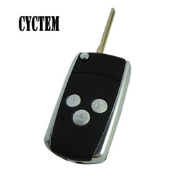 Wholesale Toyota Camry Key Fob Cover - CYCTEM Car Key Cover Housing 3 Buttons Modified Flip Folding Remote Key Shell Fob Case Fit For Toyota Camry With Toy43 Blade