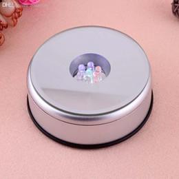 base all'ingrosso di cristallo chiara Sconti Luce rotonda del supporto del supporto della base dell'esposizione dei gioielli di cristallo rotondi all'ingrosso-unica piccola