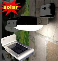 Wholesale 16led Solar Lights - Best Price 25 pcs lot Waterproof Garden Wall Lamp 16 LED Solar Power Sound Sensor Detector Light 16LED Lamps DHL FREE Shipping