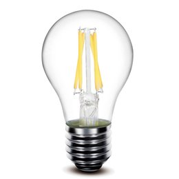 Wholesale E27 Clear Bulb - E14 E27 B22 4w 6W Dimmable filament lamp 450lm A60 e27 led filament bulb 360 Degree led bulb
