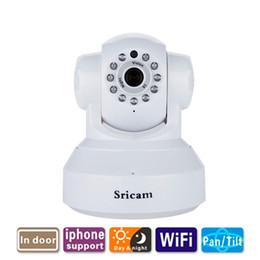 wifi ip caméra en gros Promotion En gros Sricam IP Caméra WIFI Onvif P2P Téléphone À Distance 720 P Home Security Bébé Moniteur 1.0MP Sans Fil Vidéo Surveillance Caméra