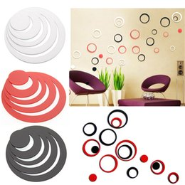 Wholesale Vinyl Wall Rings - Circles Ring DIY Wall Sticker Indoors Room Wall Home Decoration Removable Free Shipping, dandys