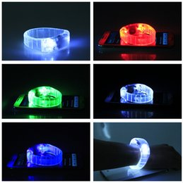 Wholesale Led Bracelets Wholesale - LED Voice-control Bracelet Glo-sticks Electronic LED Flashing Bracelet Glow Bracelets LED Wrist Band Christmas LED Bracelet LED Lighted Toys