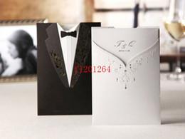 2019 cartões imprimíveis livres dos convites 100 pçs / lote Frete Grátis Printable Customizable Laser Cut Noivo e Noiva PretoBranco Cartão de Convite de Casamento Noivado desconto cartões imprimíveis livres dos convites