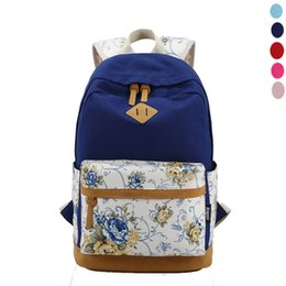 Wholesale Bolsas Backpack - Lucky 2015 Vintage Canvas Women's Backpacks Rucksack School Satchel Fashion girls Hiking Bag Bookbag Bolsas Mochilas Femininas