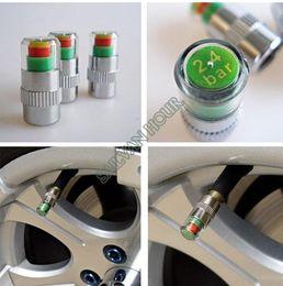 Wholesale Car Auto Tire Pressure Monitor - 4PCS Car Auto Tire Pressure Monitor Valves Stem Caps Sensor Indicator Eye Alert diagnostic tool neumaticos detector car styling accessories