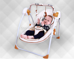 Wholesale Swing Cribs - Wholesale-Deluxe trendy new electric rocking chair baby bed baby cradle crib baby swing bed