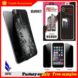 Wholesale Iphone S4 Screen - 2.5D Round Edge 9H Privacy Tempered Glass Screen Protector Film For Iphone 6 plus Galaxy S4 S5 S6 note 3 4 5 With Retail Package