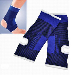 Wholesale Elastic Brace Guard Support Sports - 10pc 5Pair Unisex Ankle Pad Protection Blue Sports Gym Elastic Brace Guard Support