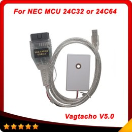 Wholesale Vag Programmer - Vag Tacho USB 5.0 For NEC MCU 24C32 or 24C64 Compatible with models VW, Seat, Skoda Key Program Odometer DHL Free Shipping