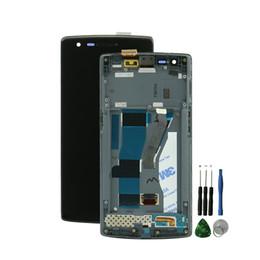 """Oneplus uma tela lcd on-line-Atacado-5.5 """"Para One plus One Display LCD com Touch Screen Digitador Assembléia Substituição Para Oneplus lcd frame + ferramentas gratuitas"""