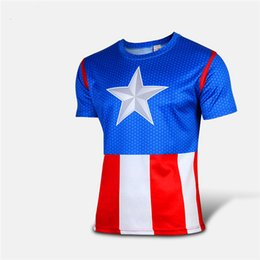 Wholesale Tights For Men Fashion - Tights Printed Shirts Robin Jeans for Men Mens Casual Marvel Comics Superhero Fashion Cycling Riding The Avengers T-Shirt Cosplay Jersey Tee