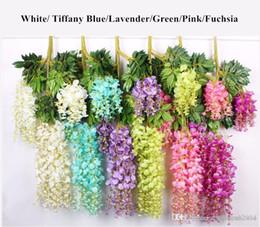 Wholesale Wholesale Wedding Supplies Bulk - Upscale Artificial Bulk Silk Flowers Bush Wisteria Garland Hanging Ornament For Garden Home Wedding Decoration Supplies