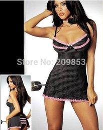 Wholesale Plus Size Stripper Lingerie - w1029 Sexy Lingerie black stripper lace babydoll sleepwear costume