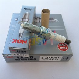 Wholesale Ngk Plugs - Auto Parts Genuine NGK Laser Iridium Spark Plug Brand new OEM# SILZKR7B11 9723 Car Candle for hyundai, kia (4pcs lot) For Wholesale