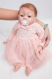 Wholesale Diy Princess Girl Gifts - Wholesale- 50cm Soft Silicone Reborn Babies Doll Lifelike Lovely Princess Newborn Girl Babies Doll Bebe Reborn Birthday Gift Present To Boy