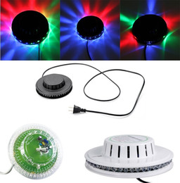 Wholesale Led Finger Light White - New Transparent black white Sunflower LED Light Magic 7 Colors 48 LEDs auto Voice Activated LED RGB Stage Light for Disco Stage home party