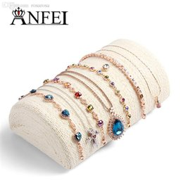 Wholesale Wholesale Jewellery Stands - Wholesale-Free Shipping Beige Necklace Display Shelf Pillow Display Stand For Jewelry Rack Jewellery Display Necklace Stand Packaging